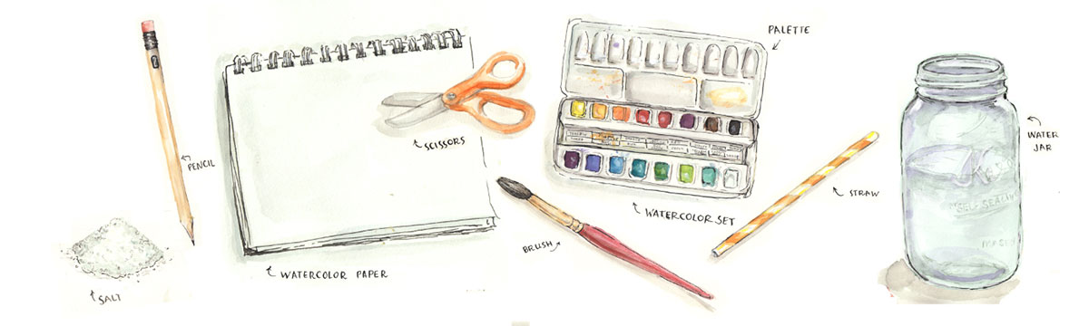 Beginning Watercolor Tutorial: Silhouettes